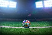 Stadium, Ball, Soccer Ball, Goal - Sports Equipment, Activity