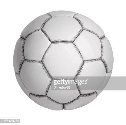 Bola de futebol feita de couro artificial : Foto de stock