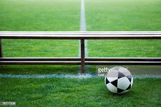 Soccer Ball Near Bench