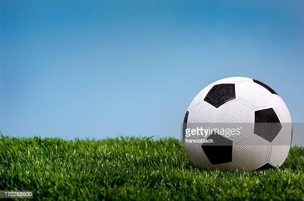 Pelota de fútbol en hierba