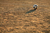 Soccer ball on ground