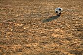 Soccer ball on ground