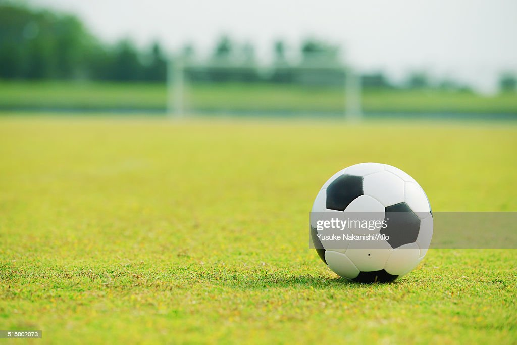 Soccer Ball On Soccer Field Stock Photo | Getty Images