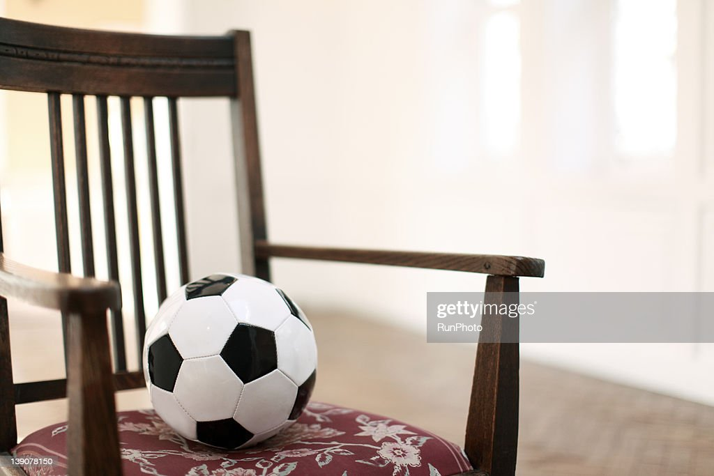 Soccer Ball On The Chair