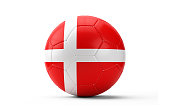 Soccer Ball Textured with English Flag. Isolated on White Background. With Clipping Path