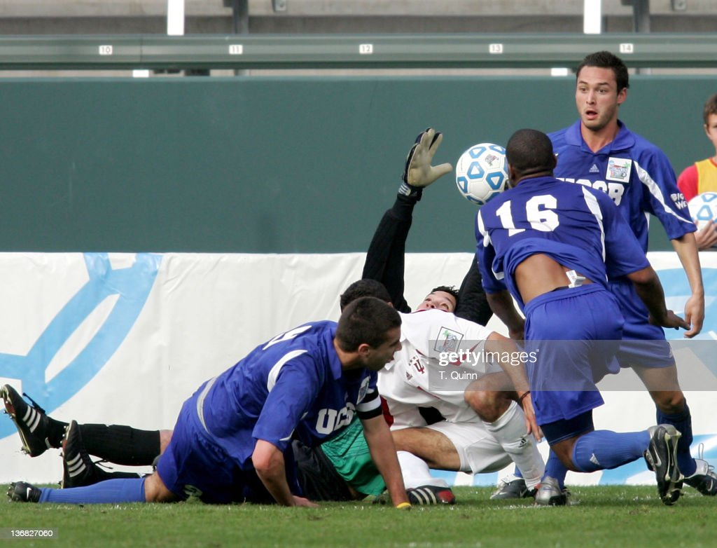 Soccer championship December 12 2004 Home Depot Center Carson California U of Indiana Hoosiers 1 U of California/Santa Barbara Gauchos 1 Indiana wins...