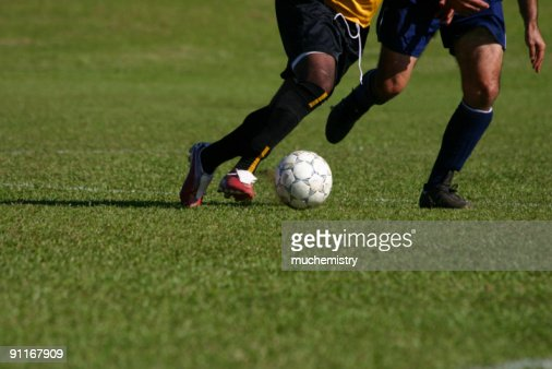 Soccer chase : Stock Photo