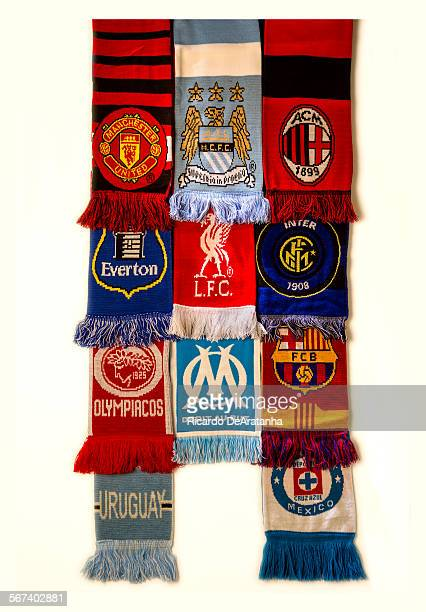 LOS ANGELES CA JUNE 04 2014 Soccer clubs scarves photographed in the Los Angeles Times studio June 04 2014