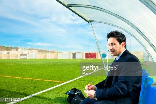 サッカーコーチ : ストックフォト