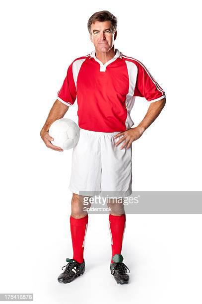 Soccer Coach-Spieler mit Ball