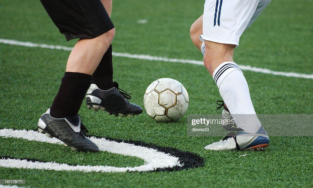 Soccer Faceoff : Stock Photo