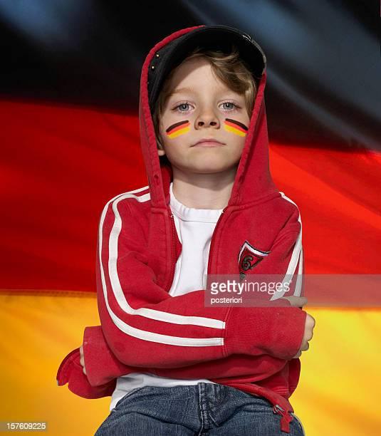 Fußball-fan der deutschen Fußballmannschaft