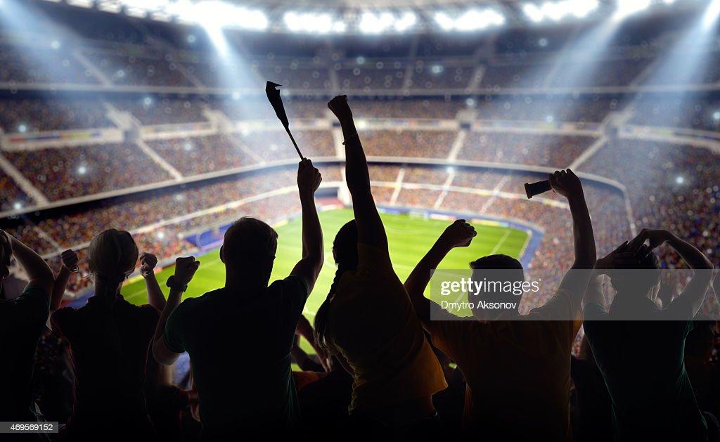 Soccer fans at stadium