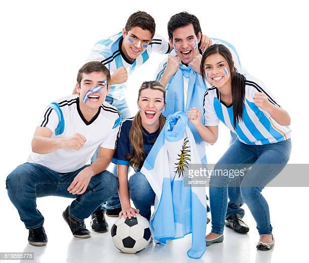 Fußball-fans jubeln für Argentinien