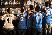 Soccer Fans Cheering in Bar