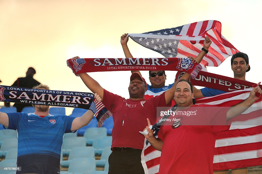 Soccer fans show their support during a World Cup Qualifier between Trinidad and Tobago and the United States as part of the FIFA World Cup...