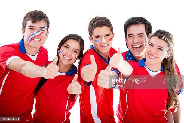 Fußball-fans Unterstützung Chile