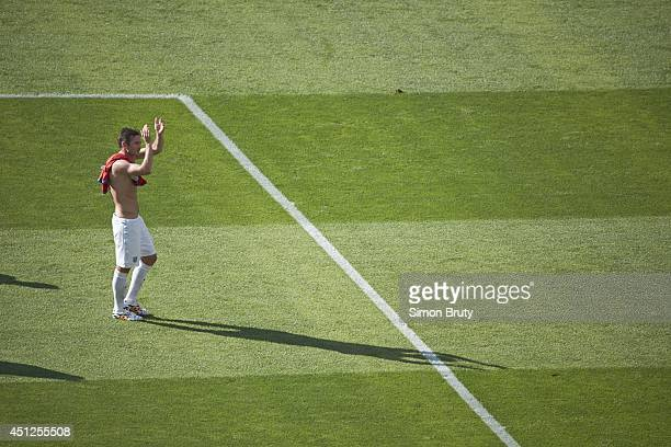 FIFA World Cup England Frank Lampard on field after Group Stage Group D match vs Costa Rica at Estadio Mineirao Belo Horizonte Brazil 6/24/2014...