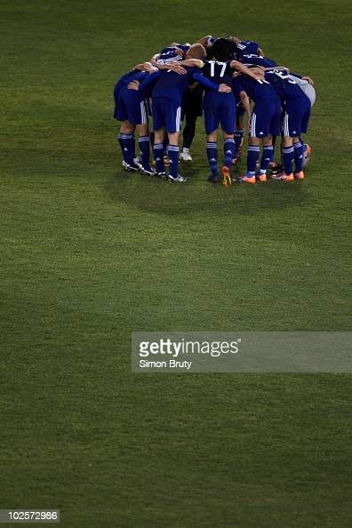 FIFA World Cup Japan during huddle vs Paraguay during Match 55 Round of 16 at Loftus Versfeld Stadium Tshwane Pretoria South Africa 6/29/2010 CREDIT...