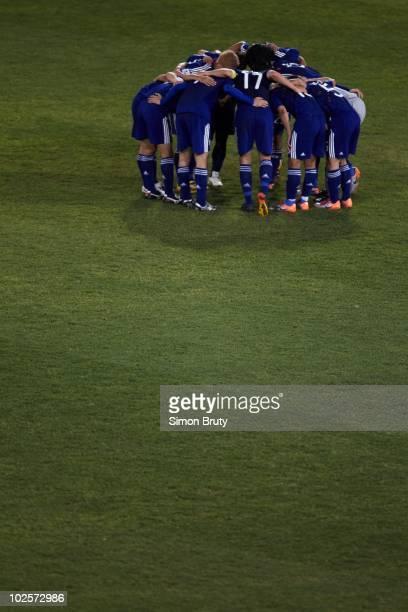 FIFA World Cup Japan during huddle vs Paraguay during Match 55 Round of 16 at Loftus Versfeld Stadium Tshwane Pretoria South Africa 6/29/2010 CREDIT...