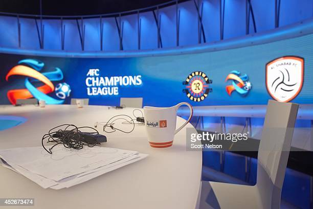 FIFA World Cup Preview Overall view of AFC Champions League studio at Al Jazeera Sports network on Television Roundabout Al Jazeera Sports now known...
