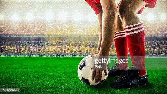 soccer football kick off : Stock Photo