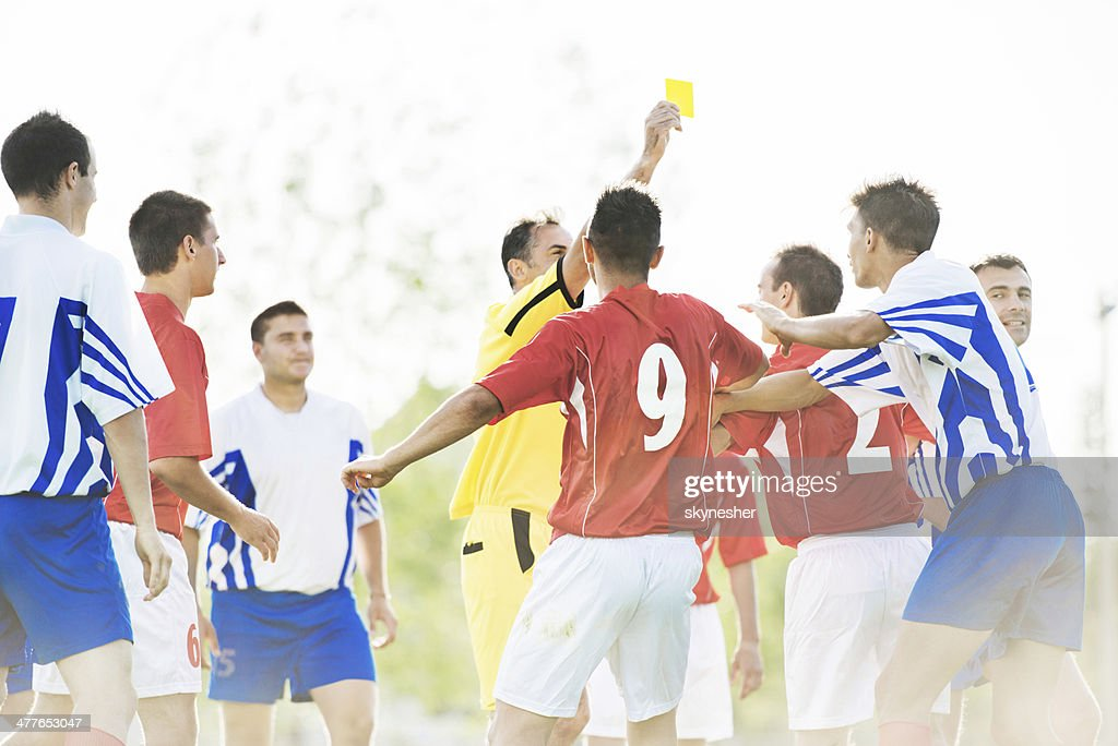 Soccer foul. : Stock Photo