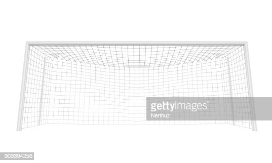 Soccer Goal Post Isolated : Stock Photo
