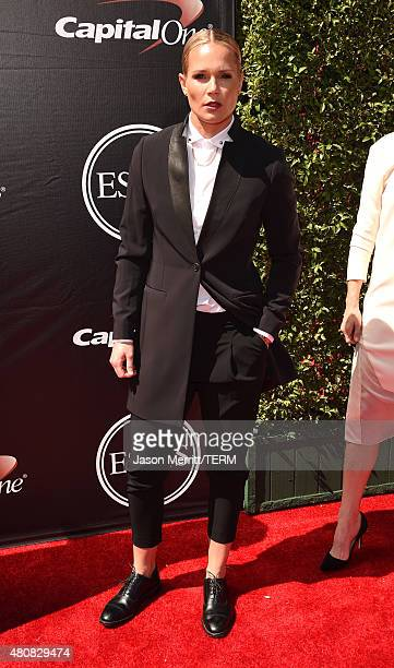 USWNT soccer goalie Ashlyn Harris attends The 2015 ESPYS at Microsoft Theater on July 15 2015 in Los Angeles California