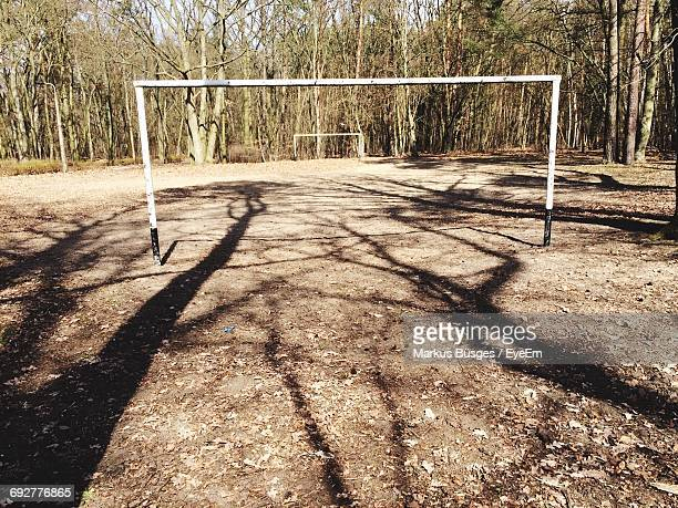 Soccer Goals On Field