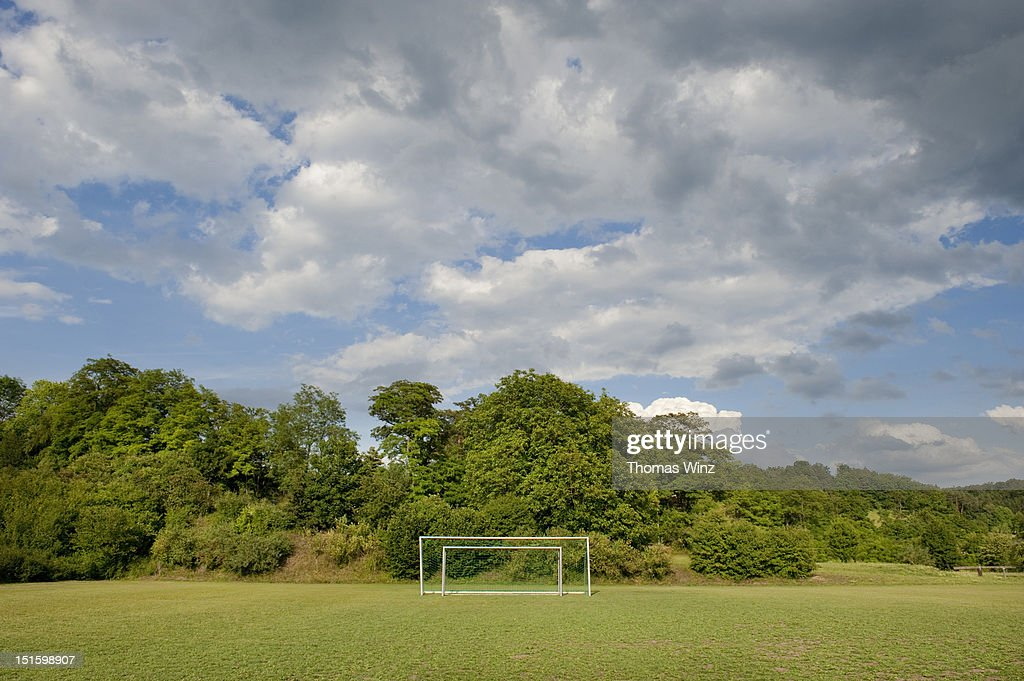 Soccer goals : Stock Photo