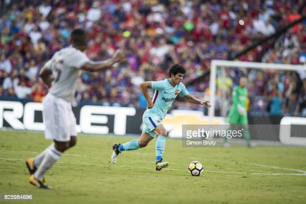 International Champions Cup FC Barcelona Carles Alena in action vs Manchester United at FedEx Field Landover MD CREDIT Simon Bruty