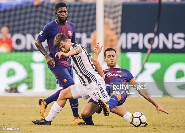 International Champions Cup Juventus FC Paulo Dybala in action vs FC Barcelona at MetLife Stadium East Rutherford NJ CREDIT Erick W Rasco