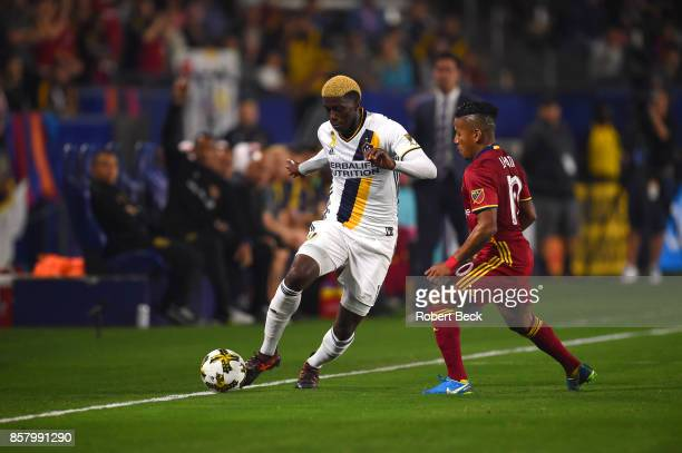 Los Angeles Galaxy Gyasi Zardes in action vs Real Salt Lake at StubHub Center Carson CA CREDIT Robert Beck