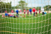 Soccer Match with selective focus for Sports Backgrounds