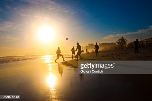 Soccer on the beach