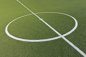Soccer pitch with centre circle