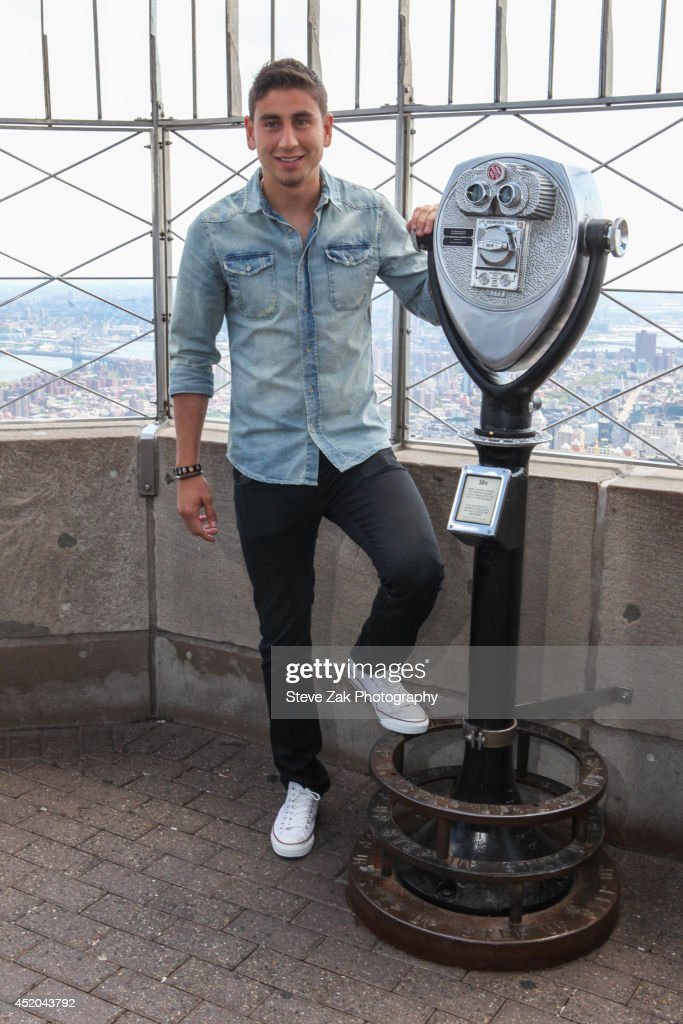Soccer player <a gi-track='captionPersonalityLinkClicked' href=/galleries/search?phrase=Alejandro+Bedoya&family=editorial&specificpeople=6703886 ng-click='$event.stopPropagation()'>Alejandro Bedoya</a> visits The Empire State Building on July 11, 2014 in New York City.