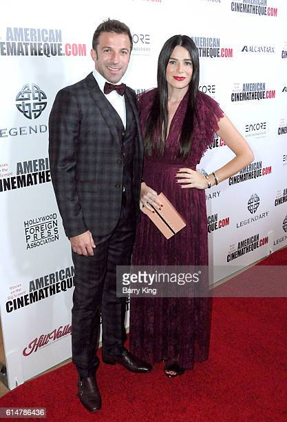 Soccer player Alessandro Del Piero and wife Sonia Amoruso attend the 30th Annual American Cinematheque Awards Gala at The Beverly Hilton Hotel on...