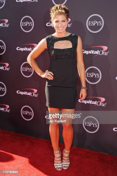 Soccer player Alex Morgan arrives at The 2013 ESPY Awards at Nokia Theatre LA Live on July 17 2013 in Los Angeles California