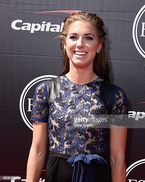 Soccer player Alex Morgan attends The 2015 ESPYS at Microsoft Theater on July 15 2015 in Los Angeles California