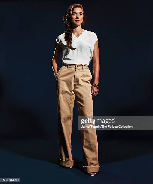 Soccer player Alex Morgan is photographed for Forbes Magazine in December 2015 in New York City PUBLISHED IMAGE CREDIT MUST READ Jamel Toppin/The...