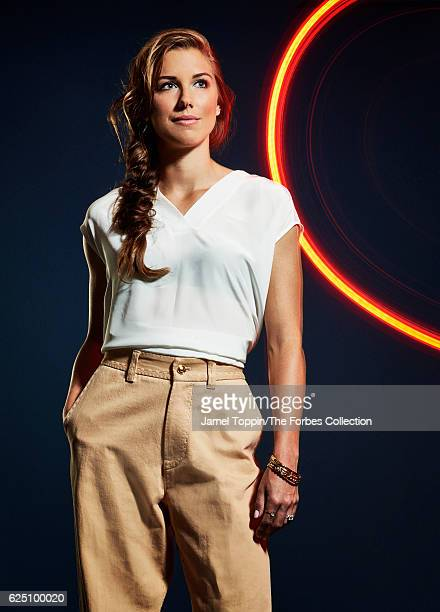Soccer player Alex Morgan is photographed for Forbes Magazine in December 2015 in New York City CREDIT MUST READ Jamel Toppin/The Forbes...