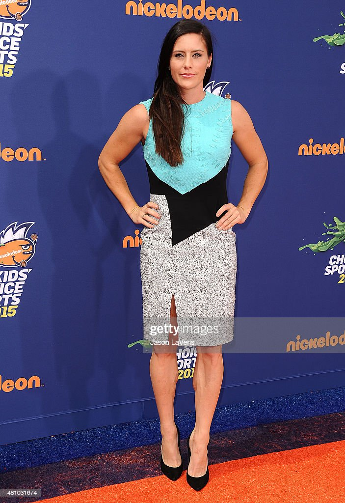 Soccer player <a gi-track='captionPersonalityLinkClicked' href=/galleries/search?phrase=Ali+Krieger&family=editorial&specificpeople=7227841 ng-click='$event.stopPropagation()'>Ali Krieger</a> attends the Nickelodeon Kids' Choice Sports Awards at UCLA's Pauley Pavilion on July 16, 2015 in Westwood, California.