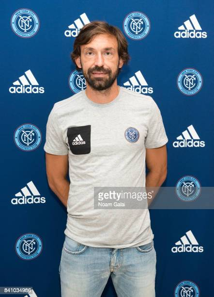 Soccer player Andrea Pirlo attends the NYCFC popup experience store VIP launch party on August 30 2017 in New York City