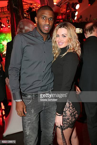 Soccer player Anthony Modeste and his wife Maeva Modeste during the Lambertz Monday Night 2017 at Alter Wartesaal on January 30 2017 in Cologne...