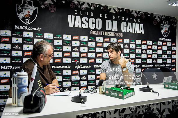 Soccer player Antonio Augusto Ribeiro Reis Junior aka Juninho Pernambucano is photographed for Le Figaro Magazine on May 6 2012 in Rio de Janeiro...