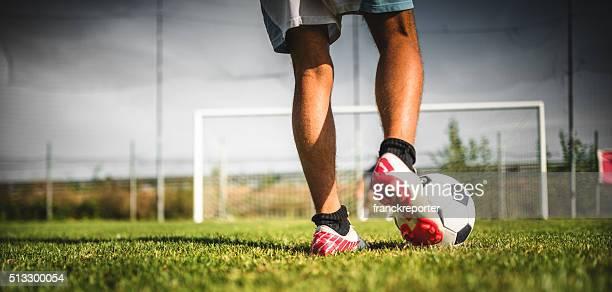 Giocatore di calcio di rigore