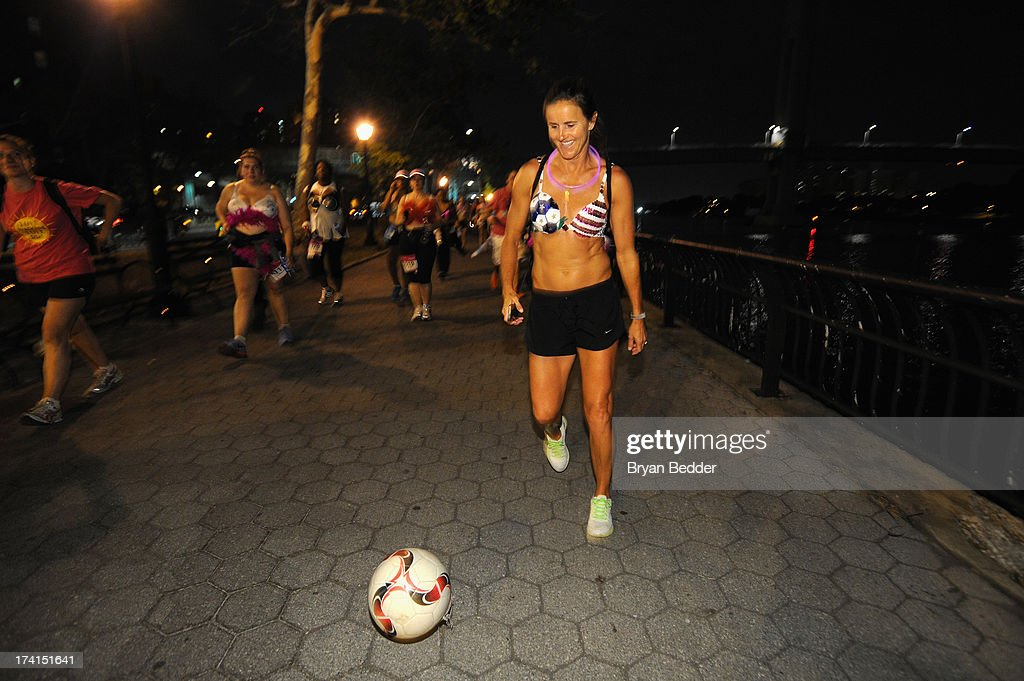 Soccer player <a gi-track='captionPersonalityLinkClicked' href=/galleries/search?phrase=Brandi+Chastain&family=editorial&specificpeople=213795 ng-click='$event.stopPropagation()'>Brandi Chastain</a> attends the first-ever MoonWalk NYC at Randall's Island on July 21, 2013 in New York City.