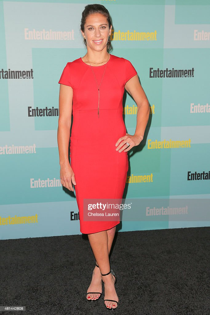 US soccer player Carli Lloyd arrives at the Entertainment Weekly celebration at Float at Hard Rock Hotel San Diego on July 11, 2015 in San Diego, California.